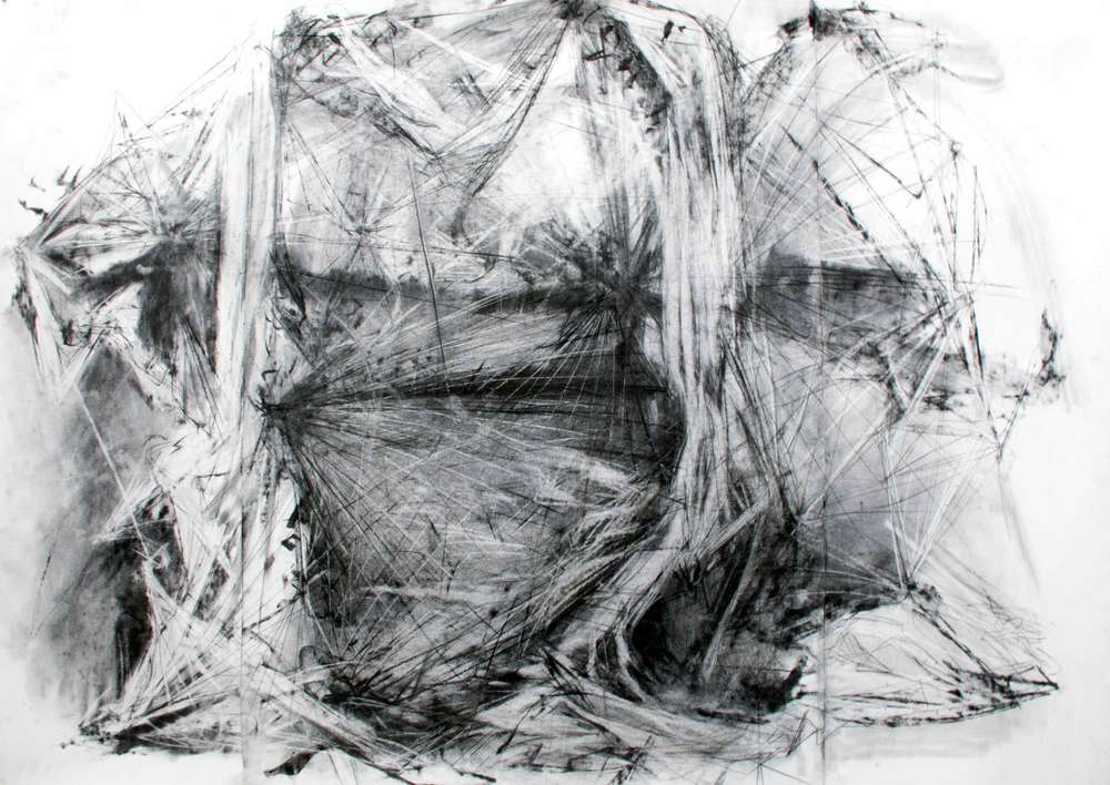 Portal.  2014. Charcoal on Paper.  44 inches x 60 inches.