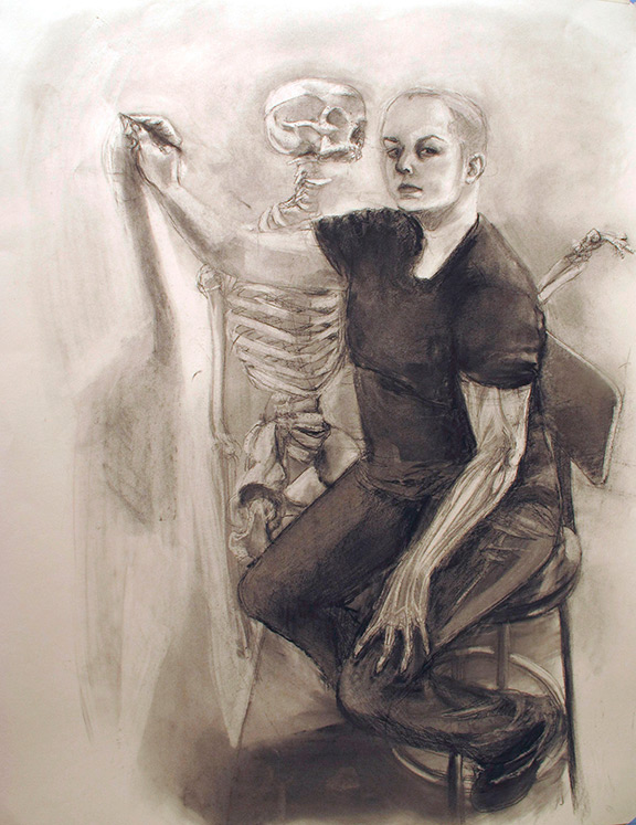 Specter (Dream Anatomy). 2014. Charcoal on Paper. 38 inches x 50 inches.