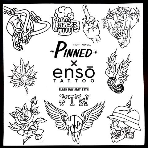Enso Tattoo is hosting  #pinnedohio  Flash Day ! Saturday the 13th will be dedicated to Pinned. Schedule or walkin to get zapped by calling 614-558-8018 or email info@enso-tattoo.com .Sunday will be walkins only. Thanks to the artist @enso_tattoo for participating. Follow them and check out their work