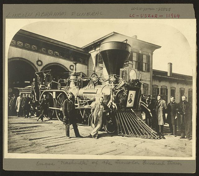 "Engine ""Nashville"" of the Lincoln funeral train"