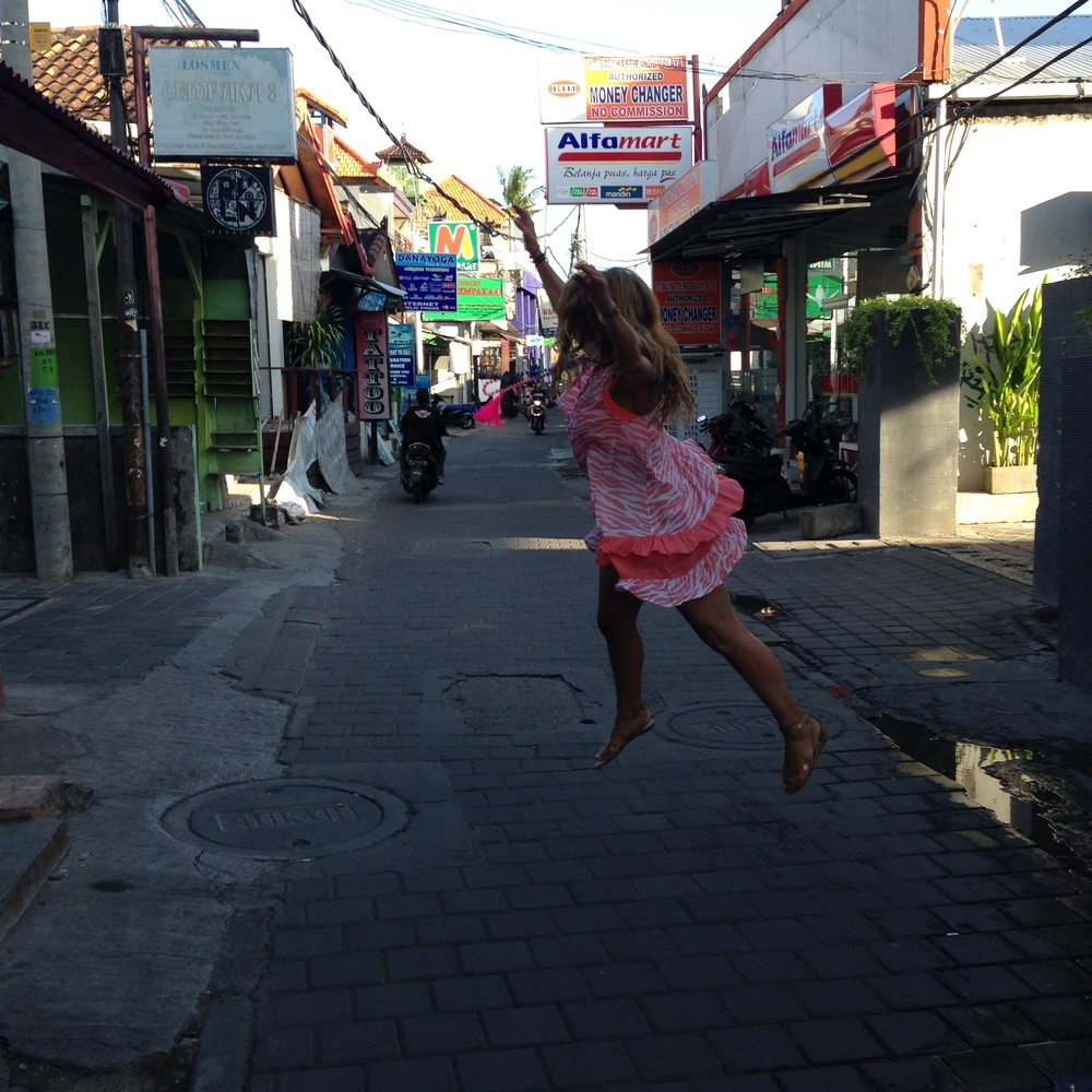 A little fire dance in sketchy Kuta