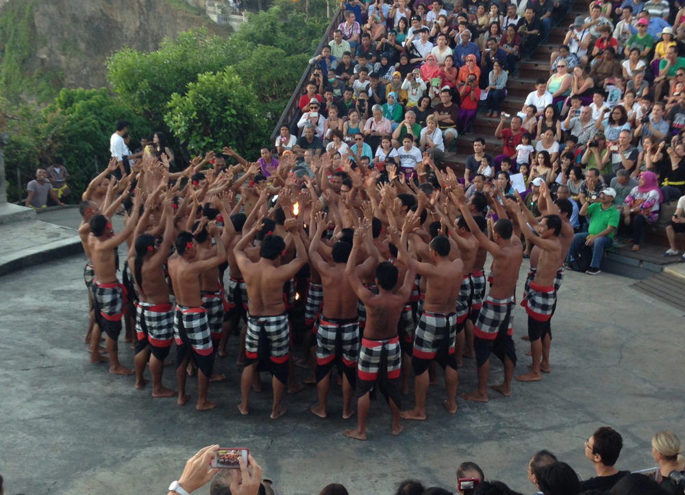 A real fire dance at Uluwatu Temple