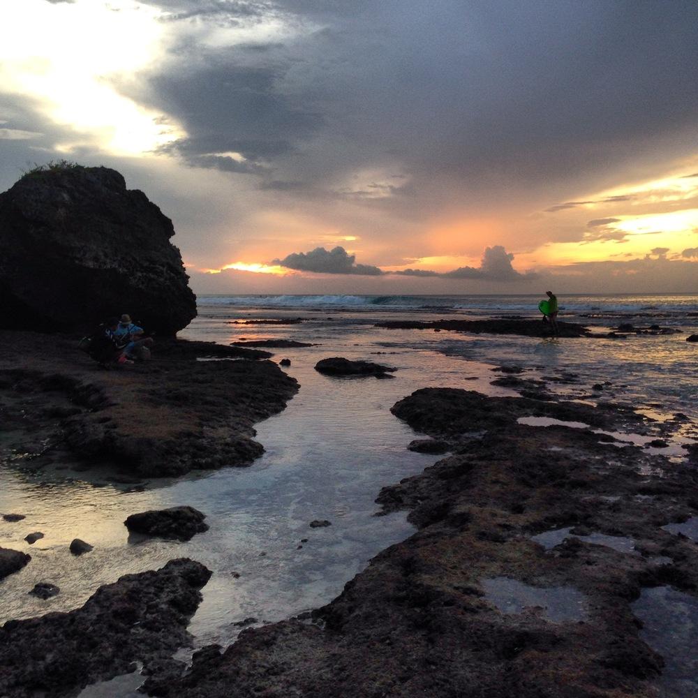 Padang Padang Beach at sunset. Pretty amazing.