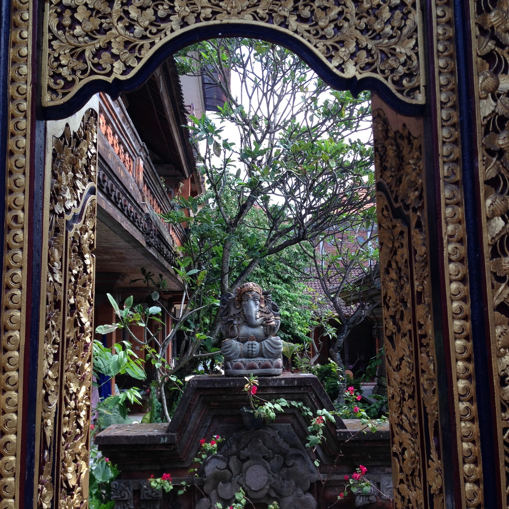 Spiritual city: there are lots of tiny temples hiding all over Ubud