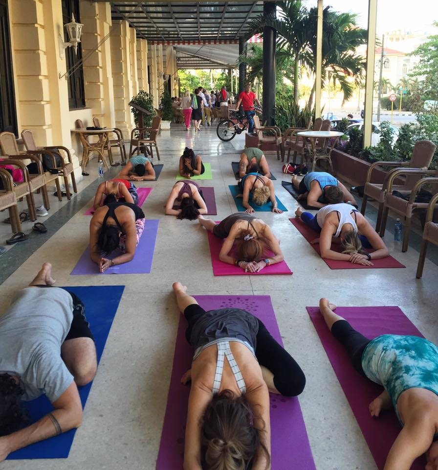yoga at hotel presidente