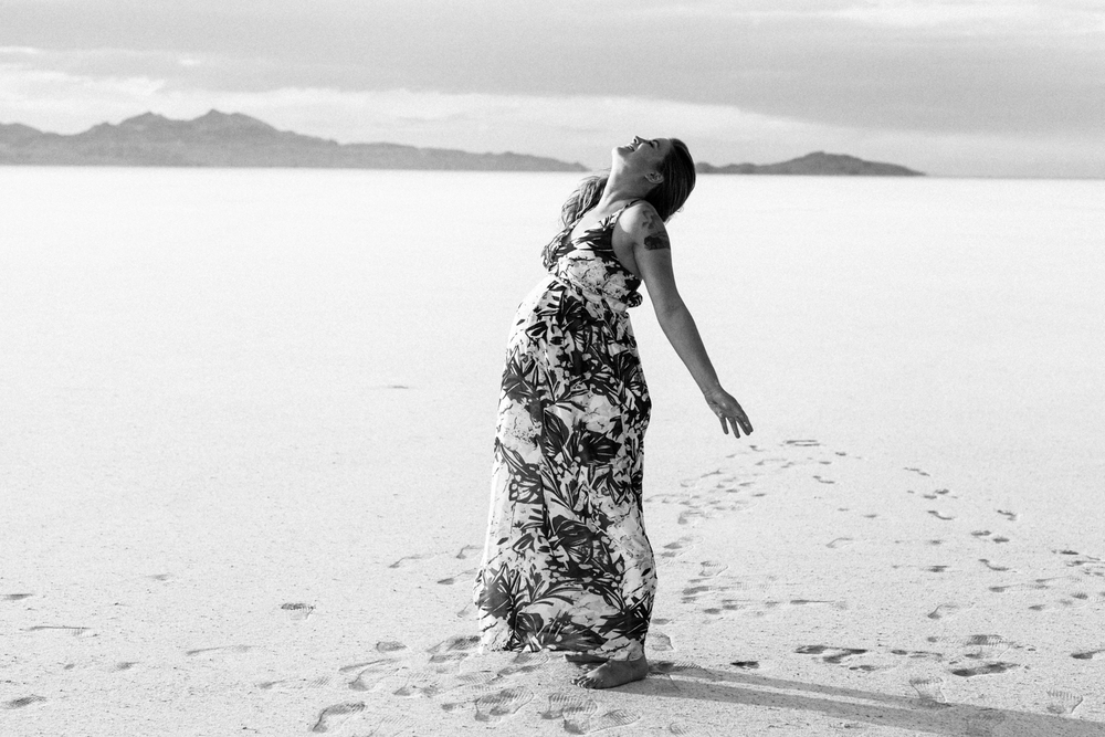 Fun Maternity Photography Salt Flats