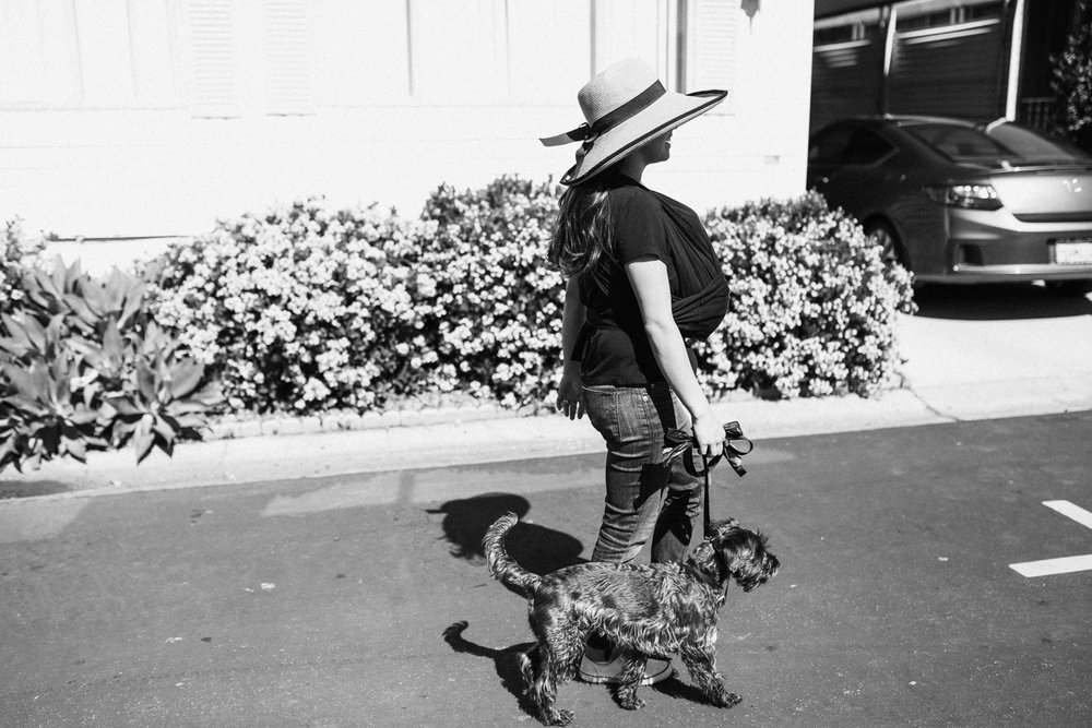 lady-walking-dog-day-in-the-life-photography-san-diego-ca