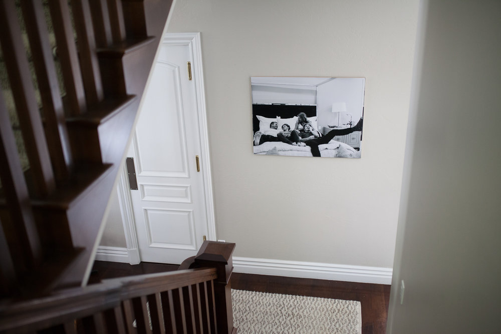 AFTER - Larger, full bleed bamboo mounted print better suits the space