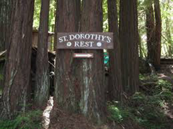 The entrance to St. Dorothy's, which is just outside the town of Occidental. in Sonoma County, CA.