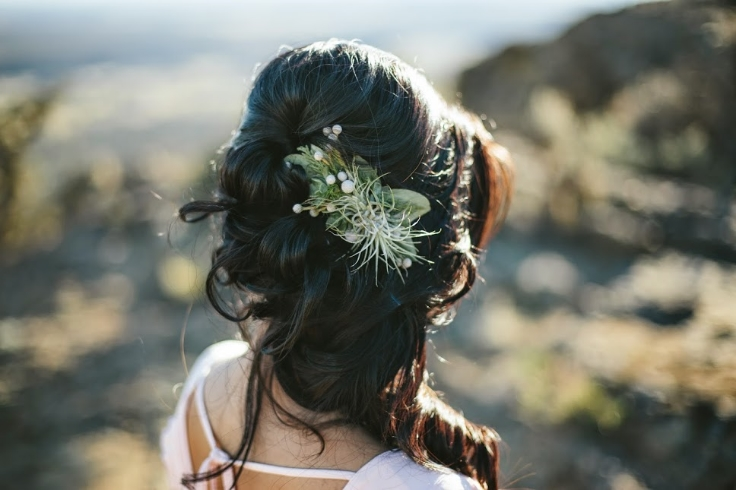 sophsiticated floral hair flowers