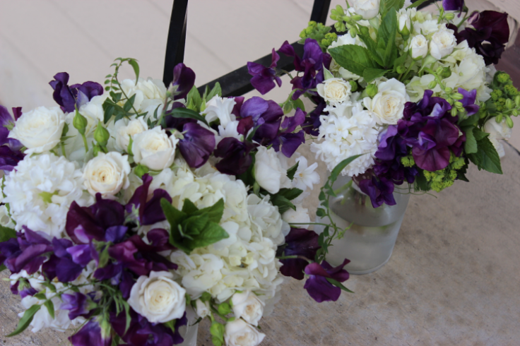 purple wedding flowers sophisticated floral portland oregon