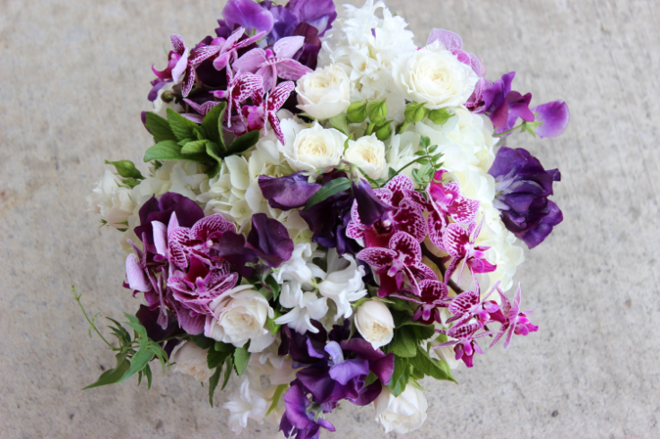 purple wedding flowers sophisticated floral designs portland oregon