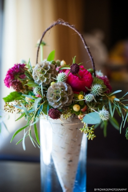 birch cone flower girl flowers sophisticated floral designs portland oregon wedding florist