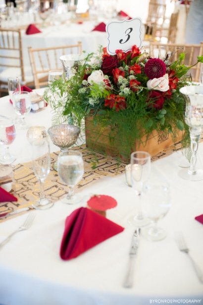 rustic centerpiece wine box sophisticated floral designs portland oregon