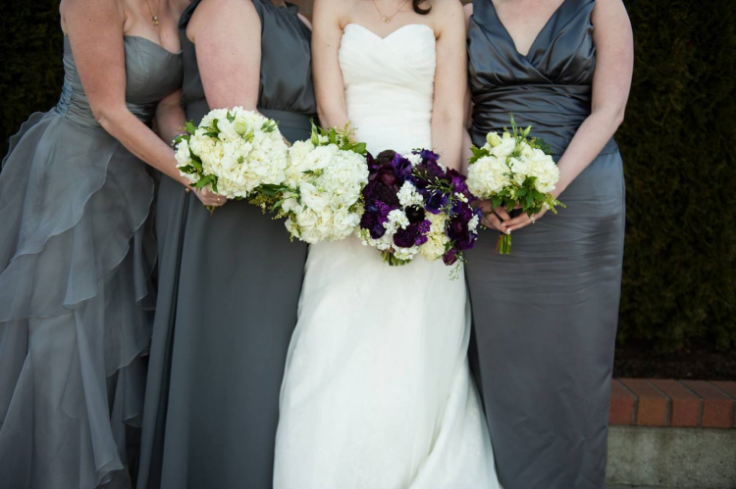 bridal party wedding bouquet sophisticated floral