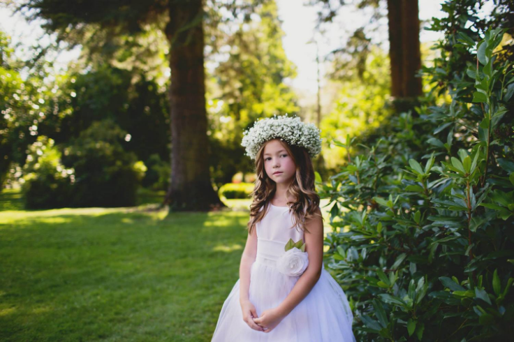 babies breath floral halo crown sophisticated floral designs portland oregon