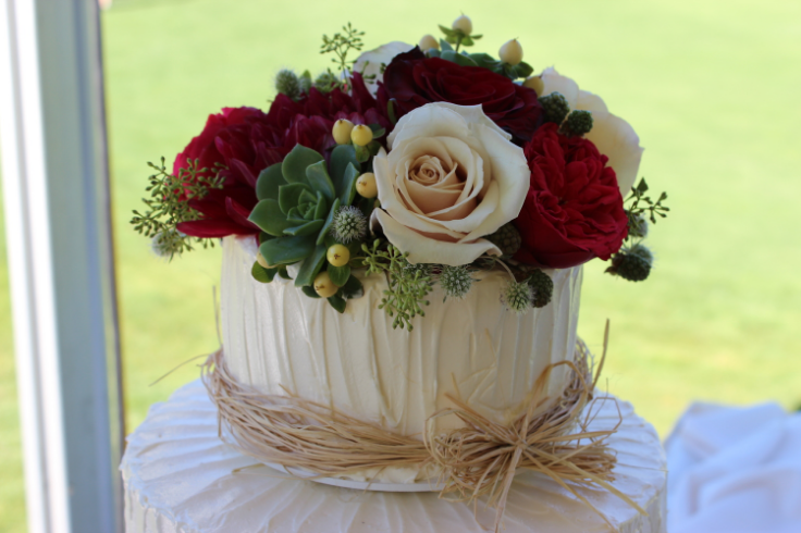 cake top flowers sophisticated floral designs portland oregon wedding florist