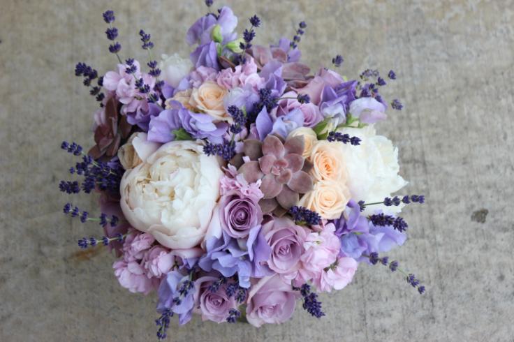 lavender peach wedding bouquet sophisticated floral designs portland oregon wedding florist