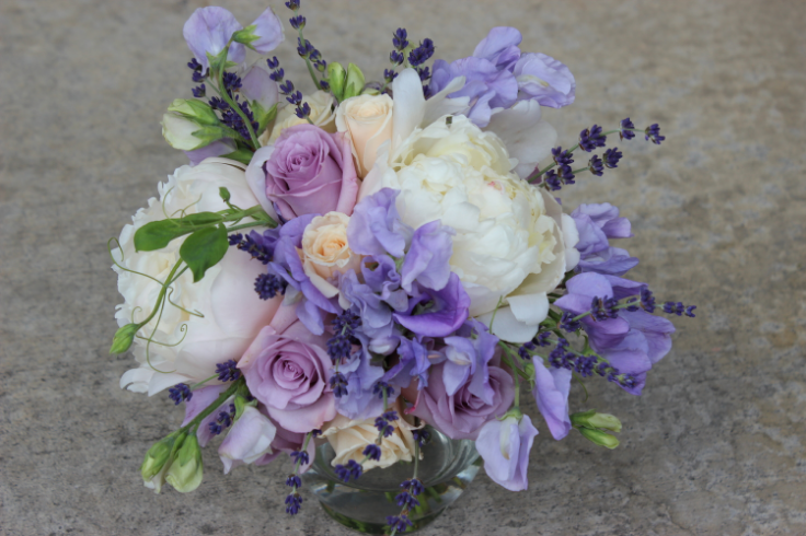 wedding flowers bridesmaids bouquet sweet peas peony sophisticated floral
