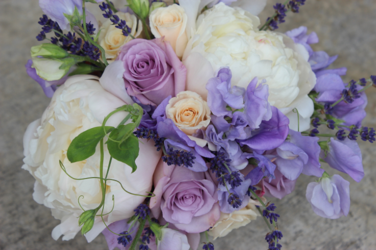 peach lavender wedding bouquet bridesmaids flowers sophisticated floral designs portland oregon wedding florist