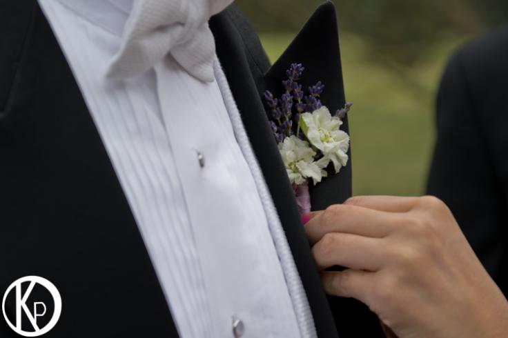 lavender boutonniere sophisticated floral portland oregon wedding florist