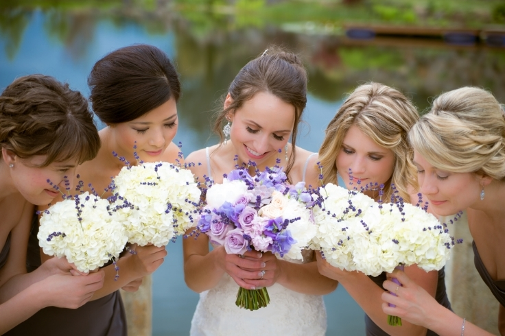 wedding flowers bridal party sophisticated floral designs