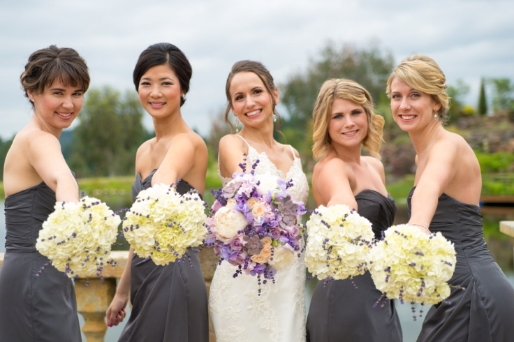 wedding flowers lavender gray sophisticated floral designs