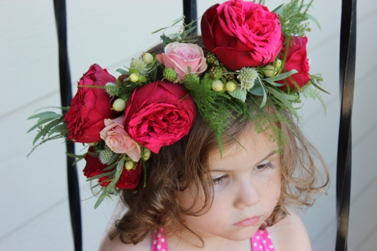 red garden roses floral crown flowers to wear