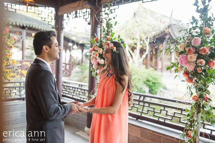 floral backdrop portland oregon engagement surprise proposal