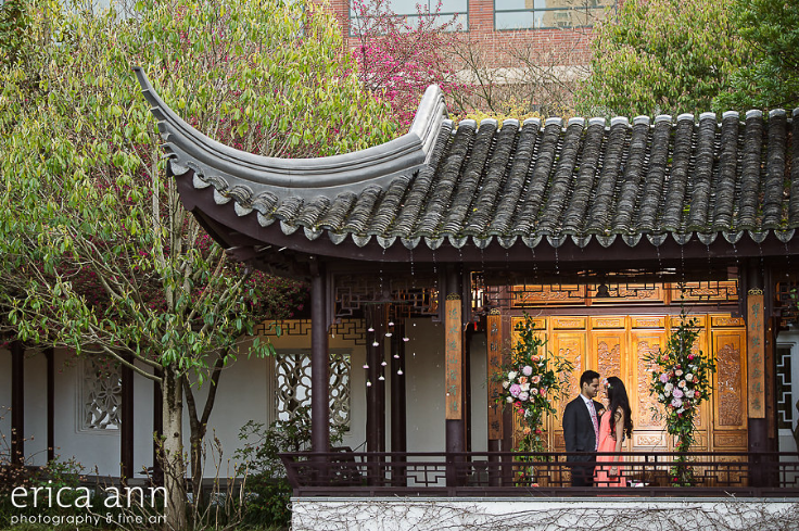 lan su garden portland oregon proposal wedding engagement