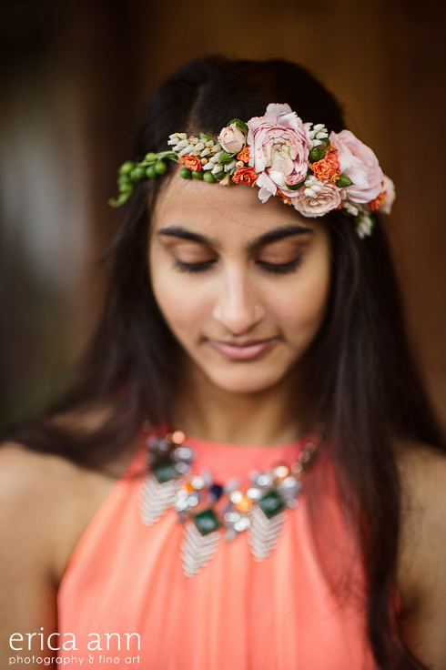 flower details floral crown hair flowers halo head wreath
