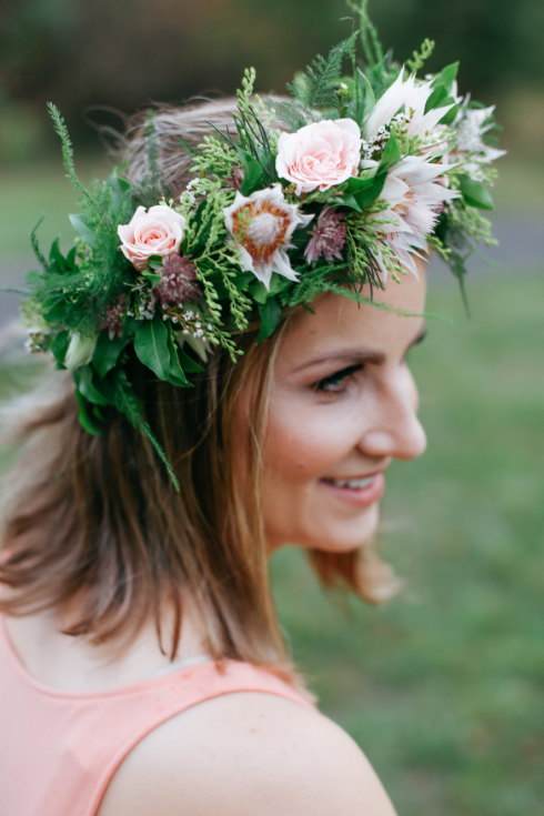 spotted stills photography sophisticated floral designs floral crown