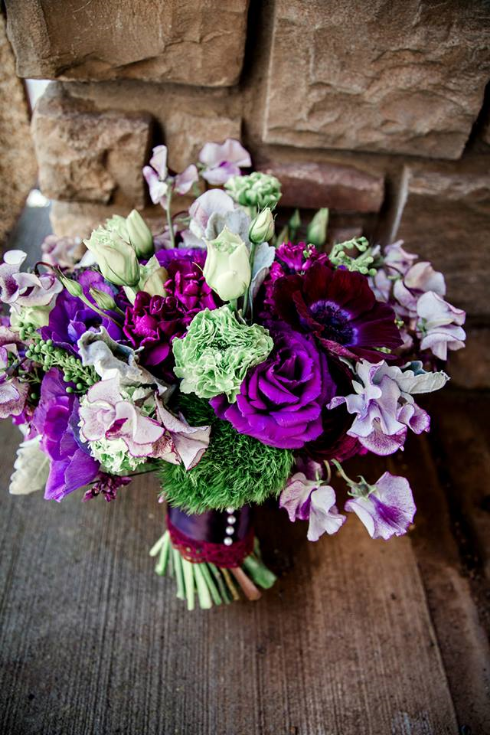 sophisticated floral designs portland oregon bridal bouquet purple wedding flowers