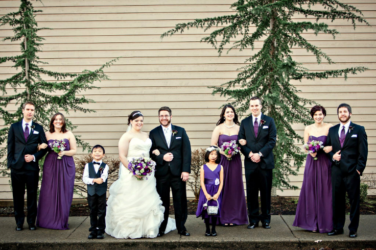 sophisticated floral designs portland oregon wedding florist purple flowers