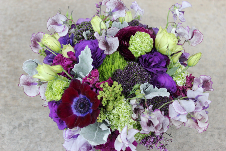 purple wedding flowers bridal bouquet sophisticated floral designs