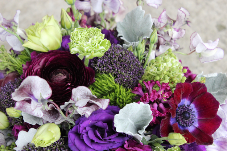 sophisticated floral designs portland oregon wedding florist purple bouquet