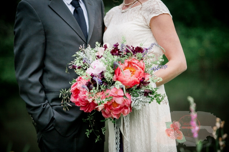 bridal bouquet peony sophisticated floral designs portland oregon florist