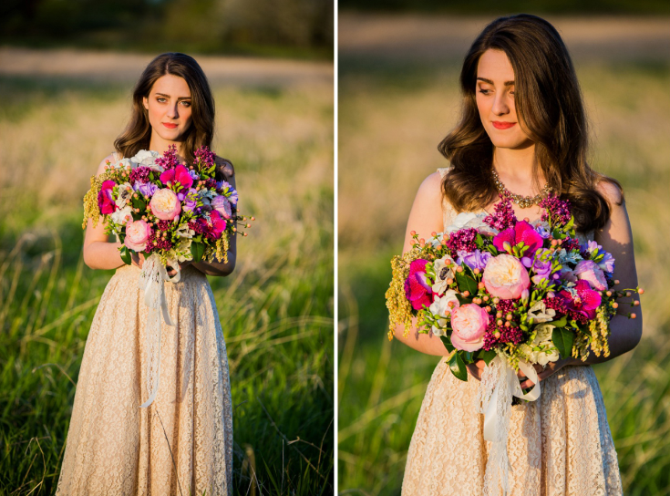 spring flowers portland oregon engagement shoot sophisticated floral
