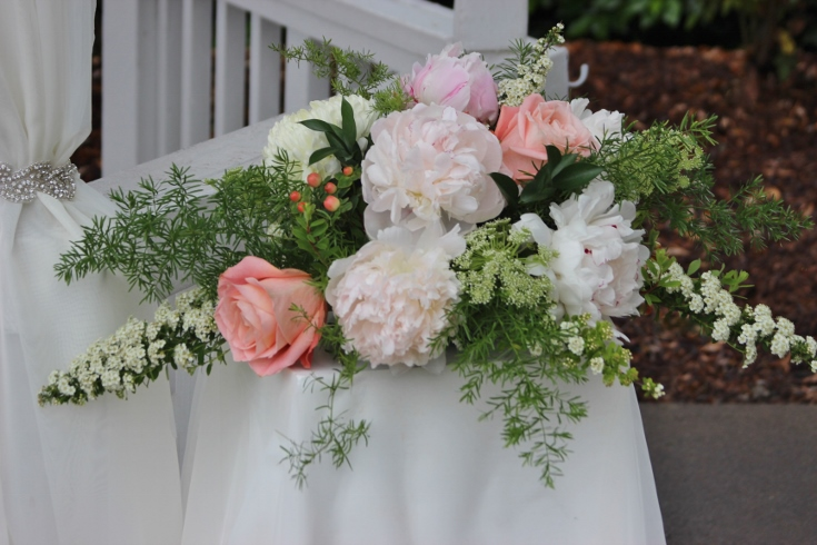 gazebo ceremony decor sophisticated floral