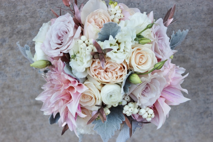 sophisticated floral designs portland florist blush pink wedding sentinel hotel