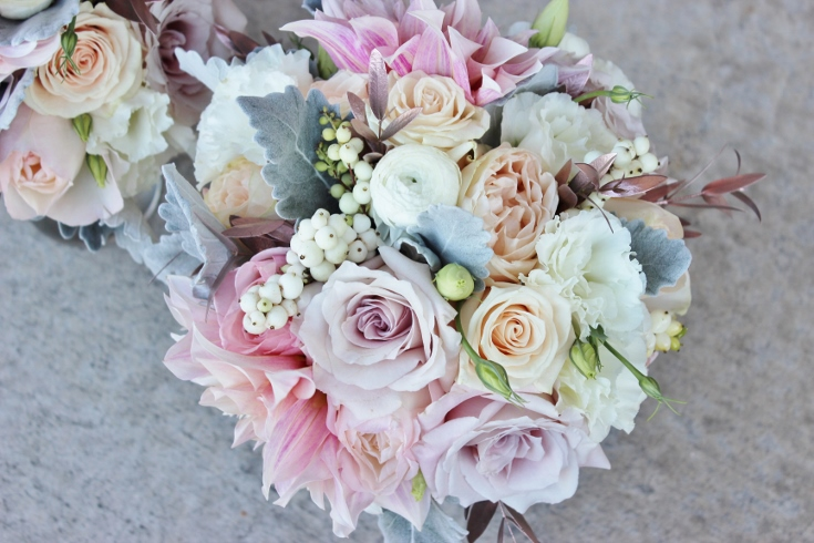 wedding flowers bridesmaids bouquet sophisticated floral