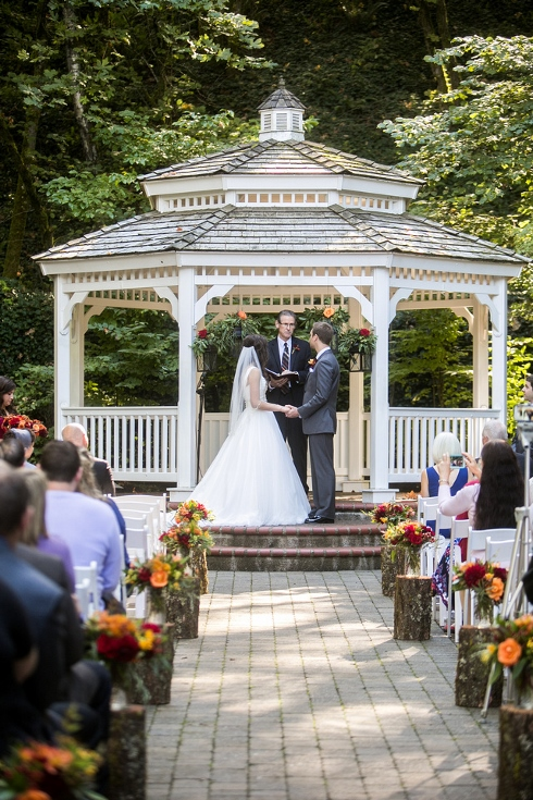 wedding ceremony flowers gazebo abernathy center sophisticated floral