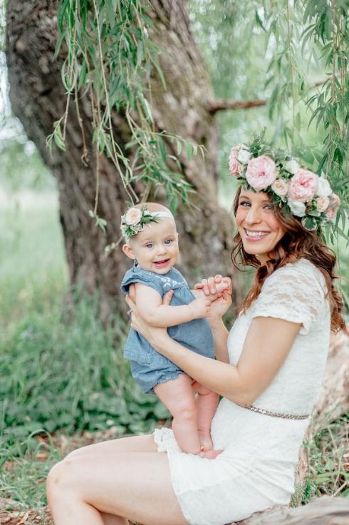 sophisticated floral designs flower crown lifestyle shoot