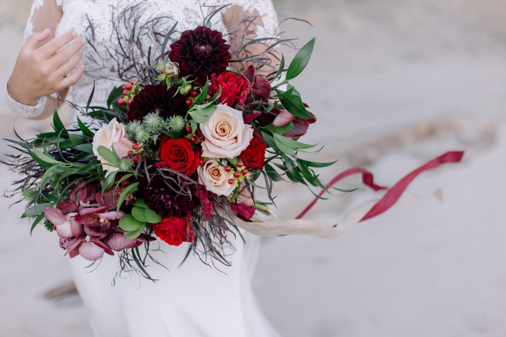 red bridal bouquet wedding flowers burgundy sophisticated floral designs