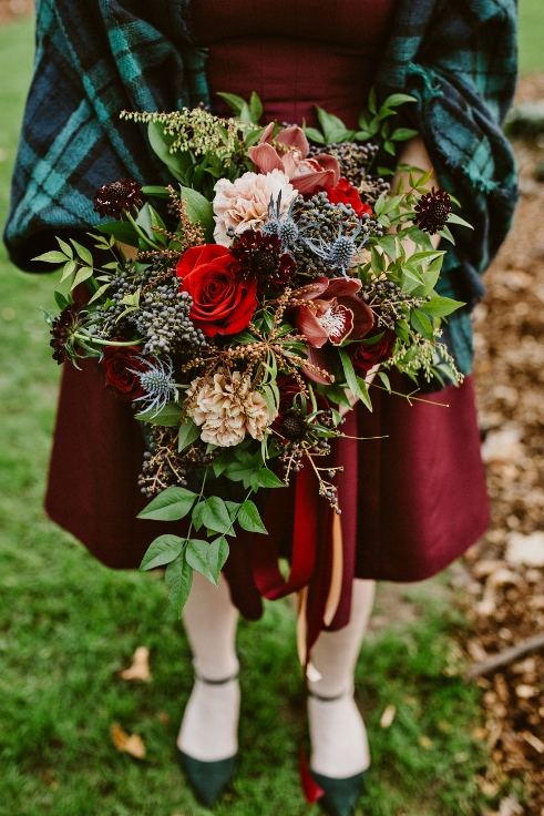 sophisticated floral bridesmaid bouquet