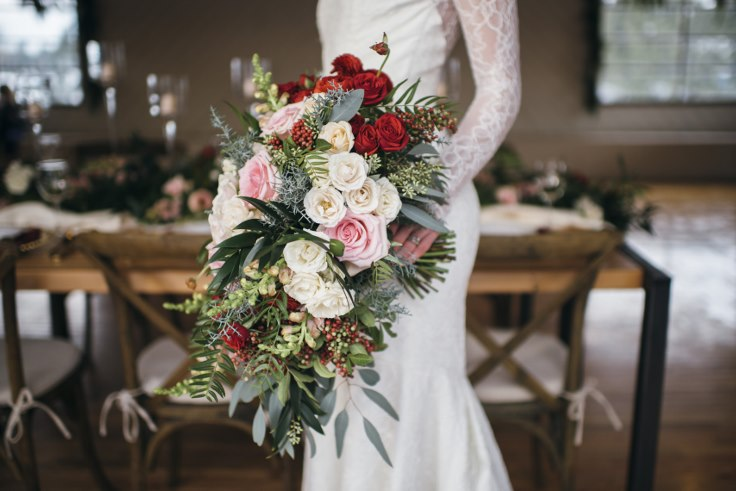 sophisticated floral designs wedding bridal bouquet