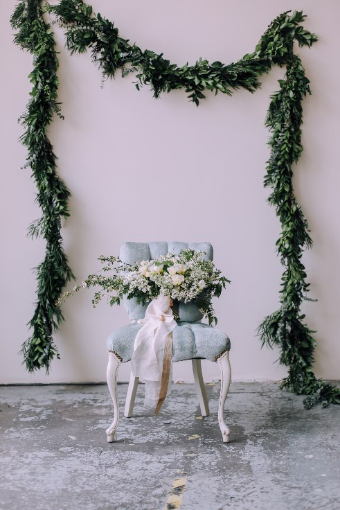 bridal bouquet and floral foliage garland sophisticated floral portland oregon