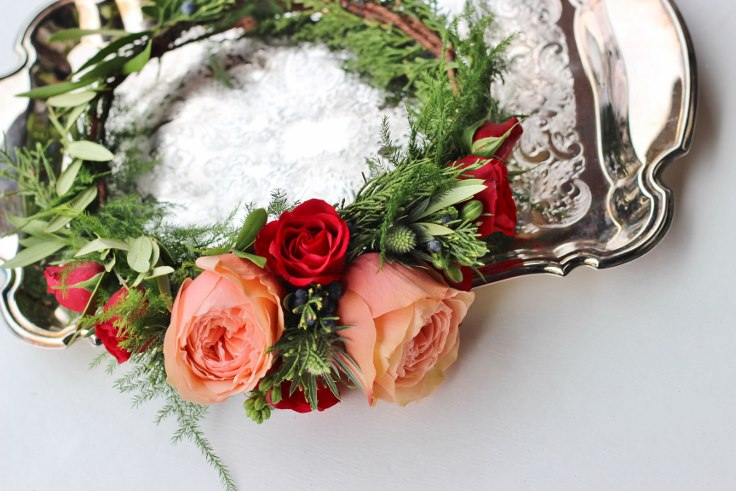 sophisticated floral designs floral crown garden roses
