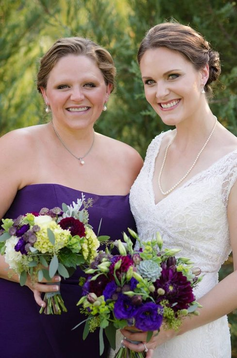 sophisticated floral designs portland oregon wedding florist plum purple bouquet wedding flowers