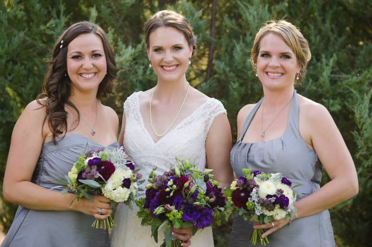 sophisticated floral designs portland oregon wine country weddings bridal bouquet purple and gray